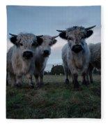White High Park Cow Herd Fleece Blanket