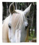 White Horse Fleece Blanket