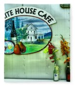 White House Cafe Fleece Blanket