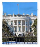 White House South Lawn With Snow Fleece Blanket