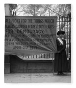 White House: Suffragettes Fleece Blanket