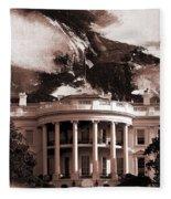 White House Washington Dc Fleece Blanket