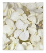 White Hydrangea Fleece Blanket