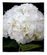 White Hydrangea Fleece Blanket