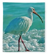 White Ibis Paradise Fleece Blanket
