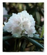 White Inflorence Of  Rhododendron Plant Fleece Blanket
