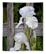 White Iris Fleece Blanket