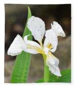 White Iris Fleece Blanket