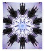 White-lilac-black Flower. Digital Art Fleece Blanket