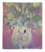 White Lilacs Fleece Blanket