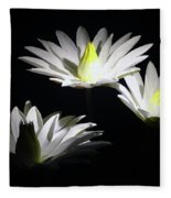 White Lillies Fleece Blanket