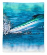 White Marlin -  From The Outer Banks Of North Carolina To Cape M Fleece Blanket