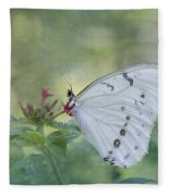 White Morpho Butterfly Fleece Blanket