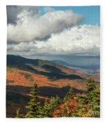 White Mountain Foliage Fleece Blanket