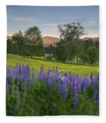 White Mountain Sunset Fleece Blanket