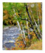White Mountains Brook Fleece Blanket