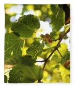 White Mulberries Fleece Blanket