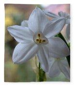 White Narcissi Spring Flowers 3 Fleece Blanket
