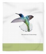 White Necked Jacobin Trinidad Fleece Blanket