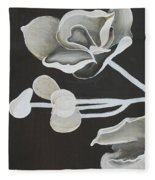 White Orchid First Section Fleece Blanket