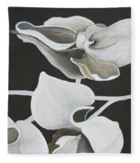 White Orchid Middle Section Fleece Blanket