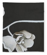 White Orchid Third Section Fleece Blanket