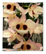 White Orchids With A Hint Of Pink Fleece Blanket