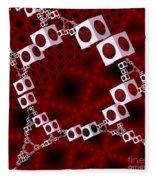 White Over Red Fleece Blanket