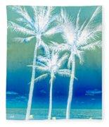 White Palms Fleece Blanket