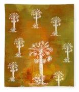 White Palms Gold Fleece Blanket