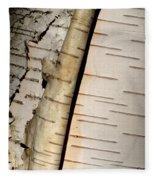 White Paper Birch Tree Bark Fleece Blanket