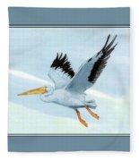 White Pelican 1 Roger Bansemer Fleece Blanket