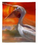 White Pelican Fleece Blanket