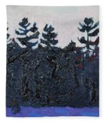 White Pine Sunrise Fleece Blanket