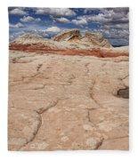 White Pocket # 4 Fleece Blanket