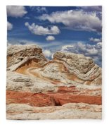 White Pocket Fleece Blanket
