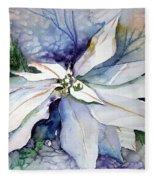White Poinsettia Fleece Blanket