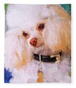 White Poodle Fleece Blanket