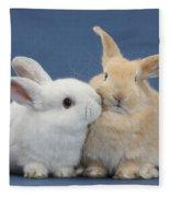 White Rabbit And Sandy Rabbit Fleece Blanket