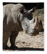 White Rhino Fleece Blanket