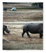 White Rhino's Fleece Blanket