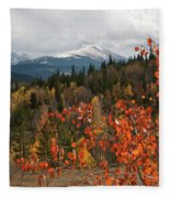 White River National Forest Autumn Panorama Fleece Blanket