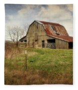 White River Trace Barn 2 Fleece Blanket