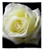 White Rose-11 Fleece Blanket
