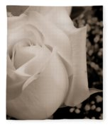 White Rose Bw Fine Art Photography Print Fleece Blanket