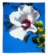 White Rose Of Sharon Hanging Out In The Sky Fleece Blanket