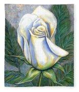 White Rose One Fleece Blanket