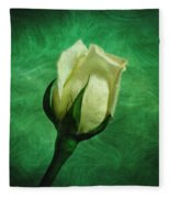 White Rose Fleece Blanket