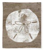 White Sand Dollar- Art By Linda Woods Fleece Blanket
