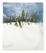 White Sand Green Grass Blue Sky Fleece Blanket